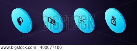 Set Isometric Painkiller Tablet, Dental Inspection Mirror, Card And Human Head With Tooth Icon. Vect