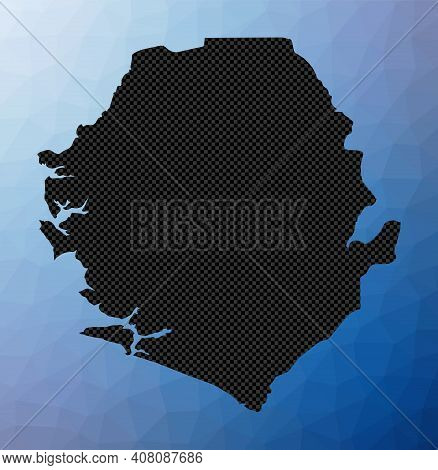 Sierra Leone Geometric Map. Stencil Shape Of Sierra Leone In Low Poly Style. Modern Country Vector I