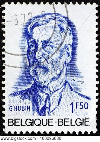 Belgium - Circa 1971: A Stamp Printed In Belgium Shows Georges Hubin (1863-1947), Was A Socialist Le