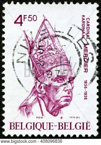 Belgium - Circa 1976: A Stamp Printed In Belgium Shows Desire Joseph Cardinal Mercier (1851-1926), W