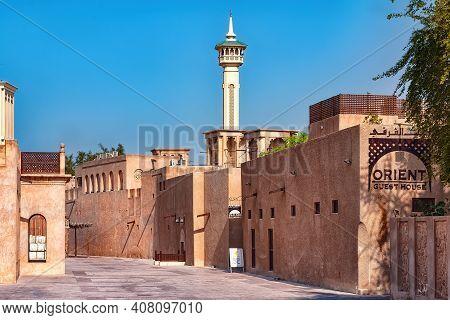 Dubai, Uae - January 06, 2012: View Of Al Bastakiya Historical District. Established At The End Of T