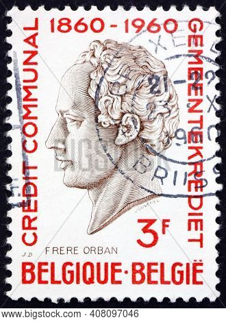 Belgium - Circa 1960: A Stamp Printed In The Belgium Shows H. J. W. Frere-orban, Portrait, Was A Bel