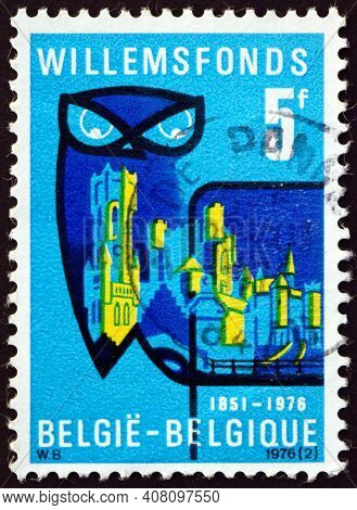 Belgium - Circa 1976: A Stamp Printed In Belgium Dedicated To Willems Foundation, Which Supports Fle