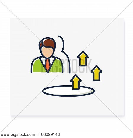 Growth Zone Color Icon. Route To Success. Self Improvement And Self Realization. Business And Career