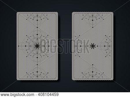 Set Magical Tarot Cards, Magic Occult Sacred Geometry Sign, Esoteric Boho Spiritual Symbols, Flower