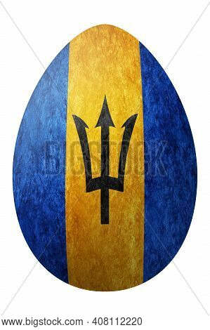 Barbados Easter Egg, National Flag Egg, Clipping Path