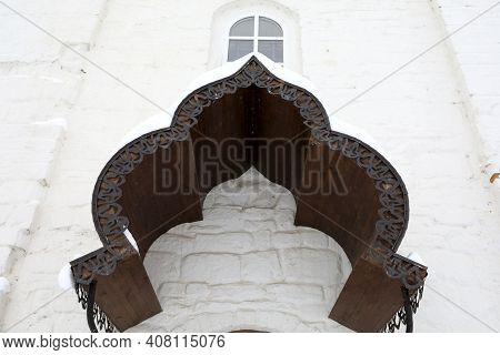 Wooden Arch Of Nikolskaya Church In Sviyazhsky Assumption Monastery