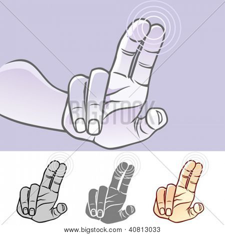 Multi-touch Hand Gestures for Smart-phone, Tablet and Pad- Double Finger Tap