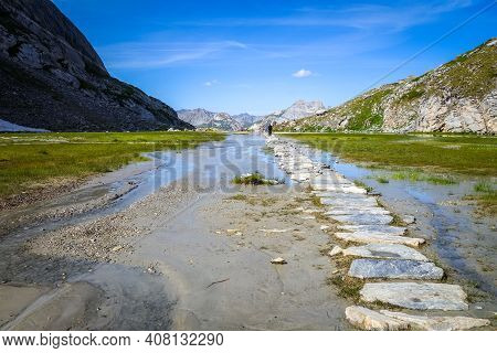 Cow Lake, Lac Des Vaches, In Vanoise National Park, Savoy, France