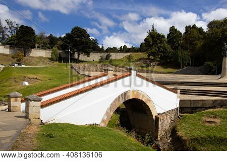 The Famous Historic Bridge Of Boyaca In Colombia. The Colombian Independence Battle Of Boyaca Took P