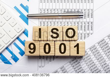 Iso 9001 Concept. Quality Control And Management, Iso 9001.