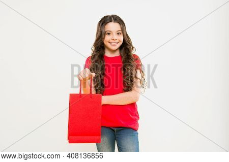 Shopping And Purchase. Black Friday. Sale Discount. Shopping Day. Child Hold Package. Favorite Kids
