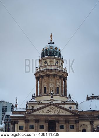 New Church Also Called Deutscher Dom Or German Cathedral And French Catheral On Gendarmenmarkt Cover
