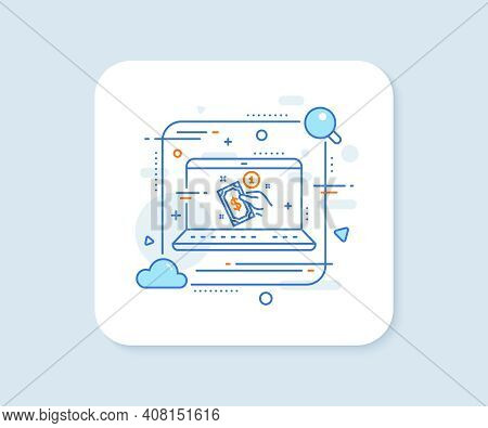 Payment Method Line Icon. Abstract Vector Button. Give Cash Money Sign. Payment Method Line Icon. La