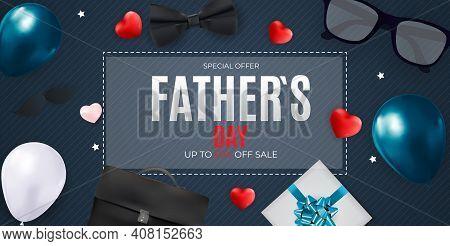Father S Day Sale Background. Poster, Flyer, Greeting Card, Header For Website. Vector Illustration.