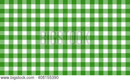 Green White Olive Vintage Checkered Background. Space For Graphic Design. Checkered Texture. Classic