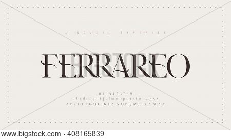Elegant Alphabet Letters Classic Font. Classic Modern Serif Lettering Minimal Fashion Designs. Typog
