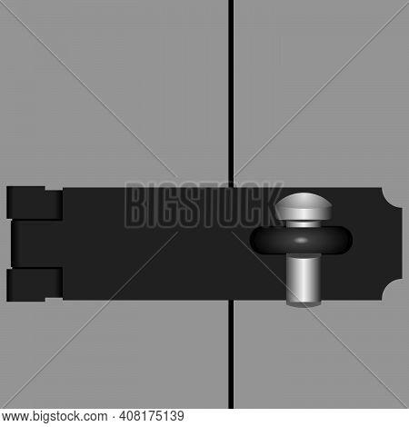 Metal Door Brace For Padlock Closed With Steel Stud Brace Closed