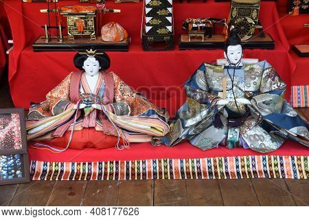 Traditional Handmade Hanging Decorations Are Decorated In Izu Inatori, Shizuoka, Japan, In Hope Of H
