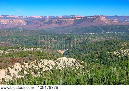 Landscape View From Lava Point Of Zion National Park Utah