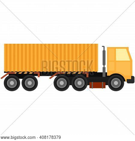 Vector Semi Truck Van Isolated On White Background
