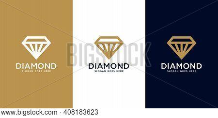 Diamond Logo Vector Designs Mono Line Logo Designs