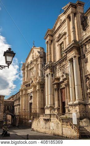 Chiesa di San Benedetto and Chiesa di San Francesco Borgia churches in Catania, Sicily, Italy