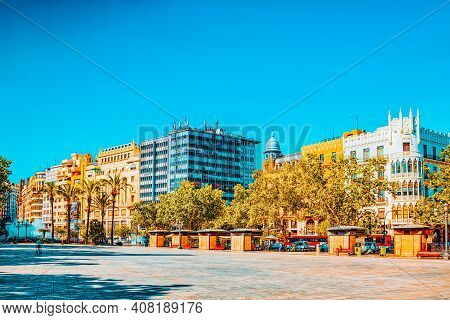 City Views Of Valencia, The Third Largest City In Spain.