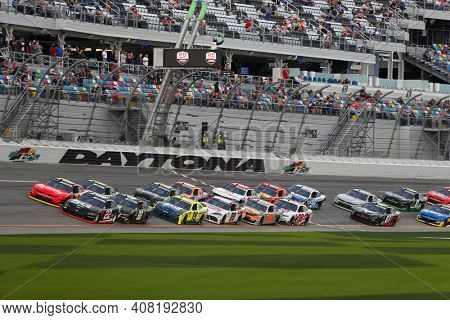 February 13, 2021 - Daytona Beach, Florida, USA: Austin Cindric races for the Beef. It's What's For Dinner. 300 at Daytona International Speedway in Daytona Beach, Florida.