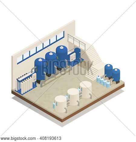 Wastewater Sewage And Water Purification Cleaning Treatment Plant Pumping And Filtration Facility Is