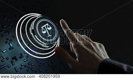 Internet, Business, Technology And Network Concept. Labor Law, Lawyer, Attorney At Law, Legal Advice