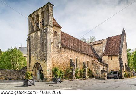 Church Of Saint John Baptiste In Campagne Village, Dordogne, France