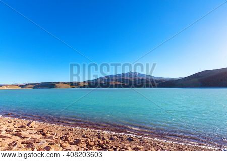 Altiplano Lake in  Andes mountains, Bolivia, South America