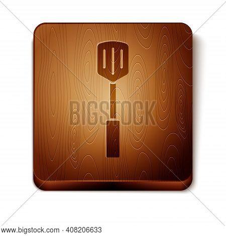 Isometric Barbecue Spatula Icon Isolated On White Background. Kitchen Spatula Icon. Bbq Spatula Sign