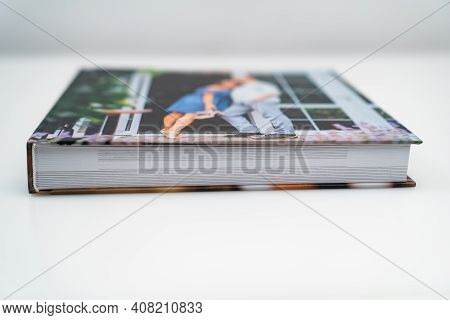 Photobook From Photo Shoots Of A Beautiful Happy Couple. Thick Pages And Binding