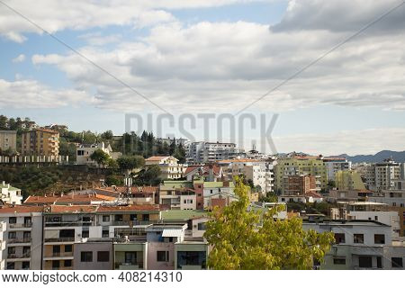 Summer View Of The Albanian Capital City Tirana From The Mountain In Dajti National Park
