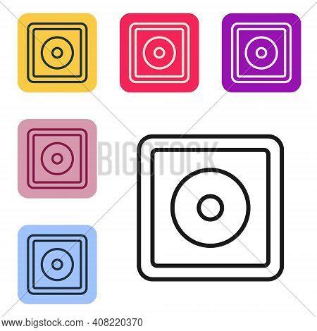 Black Line Billiard Chalk Icon Isolated On White Background. Chalk Block For Billiard Cue. Set Icons