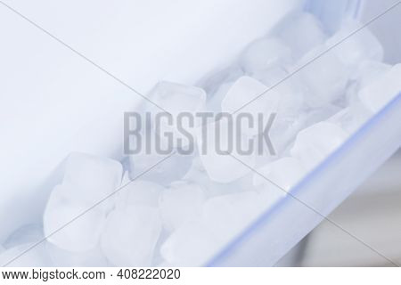 Home Appliance - Ice Inside Open Two-door White Refrigerator
