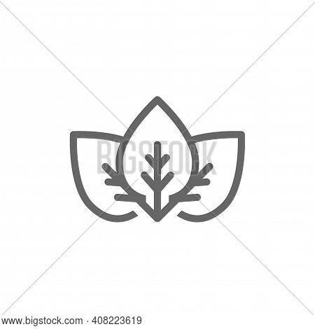Three Black Leaves Eco Logo. Leaf Organic Icon. Leaf Ecology, Eco, Organic Symbol. Healthy, Organic,