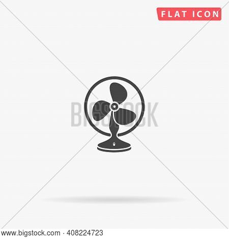 Fan Flat Vector Icon. Hand Drawn Style Design Illustrations.