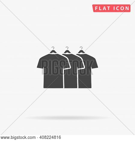 Tshirt Clothes Flat Vector Icon. Hand Drawn Style Design Illustrations.
