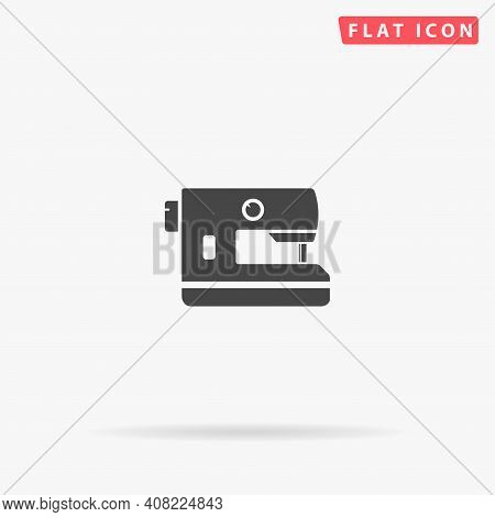 Electric Sewing Machine Flat Vector Icon. Hand Drawn Style Design Illustrations.