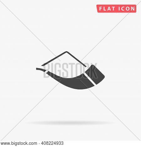 Drinking Horn Flat Vector Icon. Hand Drawn Style Design Illustrations.