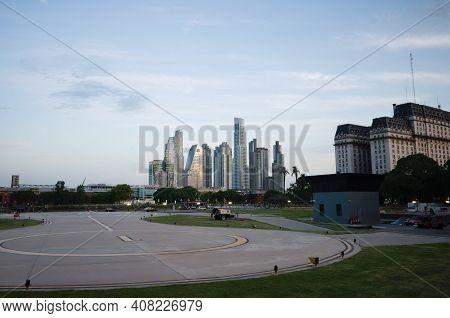 Buenos Aires, Argentina - January, 2020: Helipad On Backyard Of Casa Rosada Presidential Residence A