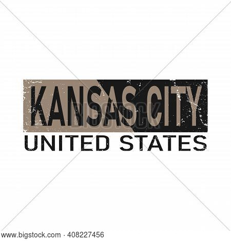 Kansas City Retro Vintage Vector Illustration. Good For Greeting Card And T-shirt Print, Flyer, Post