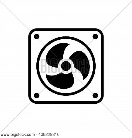 Fan Icon Isolated On White Background. Fan Icon Trendy And Modern Fan Symbol For Logo, Web, App, Ui.