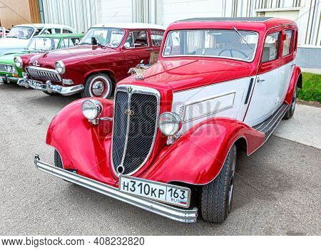 Samara, Russia - May 19, 2018: Retro German Wanderer W22 Vehicle At The City Street