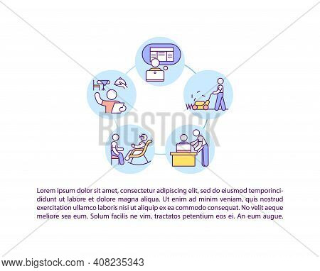 Part Time Job Concept Icon With Text. Young Worker. Employment Opportunities. Personnel For Side Gig