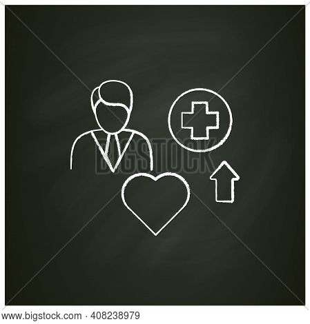 Improving Health Chalk Icon. Personal Growth Concept. Health Improvement And Protection. Self Care.