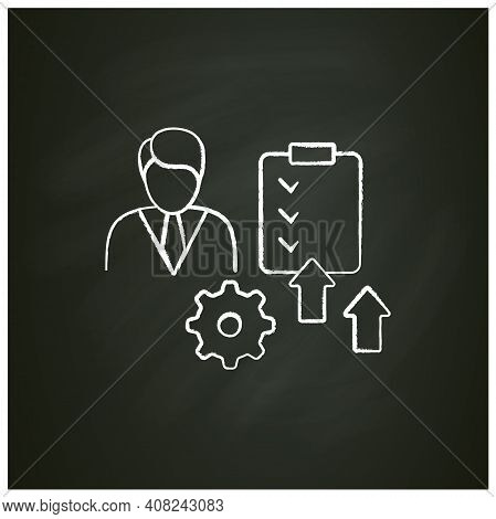 Personal Development Chalk Icon. Personal Growth Concept. Self Improvement And Self Realization. Gro